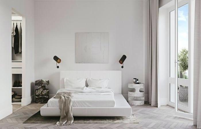 طراحی مینیمال اتاق خواب
