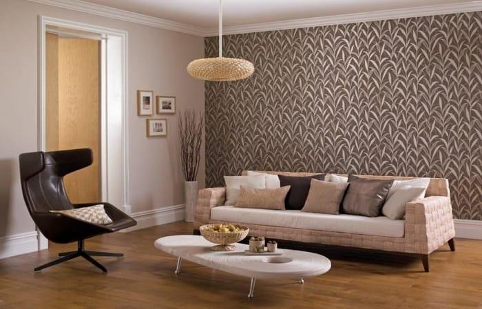 تصویر از ست کردن کاغذ دیواری و مبلمان
