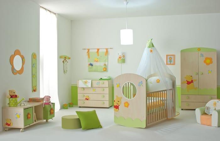 طراحی اتاق خواب پسرانه با رنگ سبز