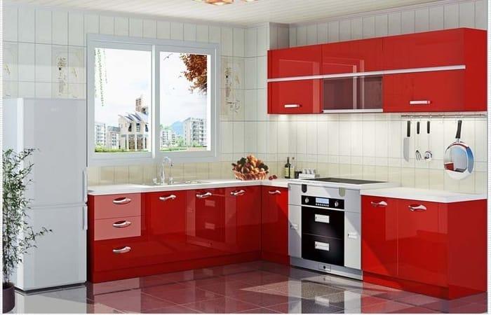 تصویر از کابینت آشپزخانه پی وی سی PVC